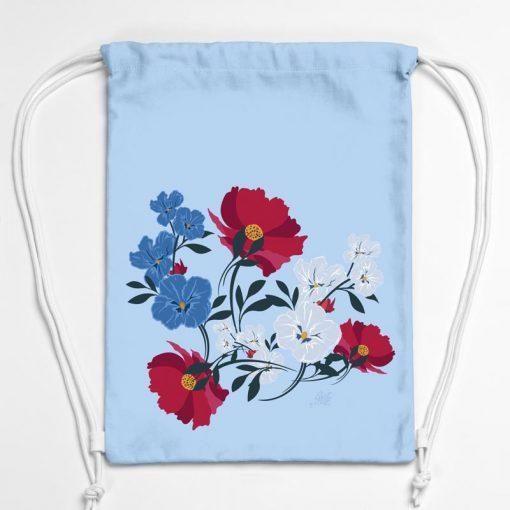 BAG01-001-Gym-Bag-Turnbeutel-Rucksack-Blumen-1
