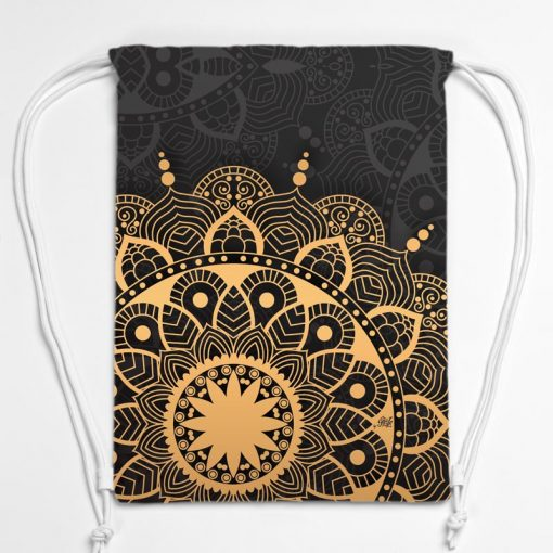 BAG01-007-Gym-Bag-Turnbeutel-Rucksack-Mandala-Golden-Grey-1