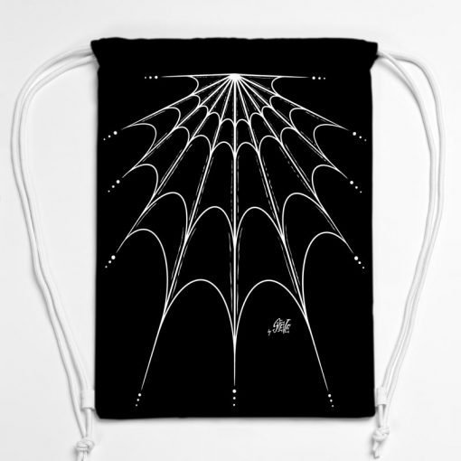 BAG01-009-Gym-Bag-Turnbeutel-Rucksack-Spiderweb-1