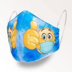 MNS01-019-Mund-Nasen-Schutz-Maske-Emoji-Blue-1