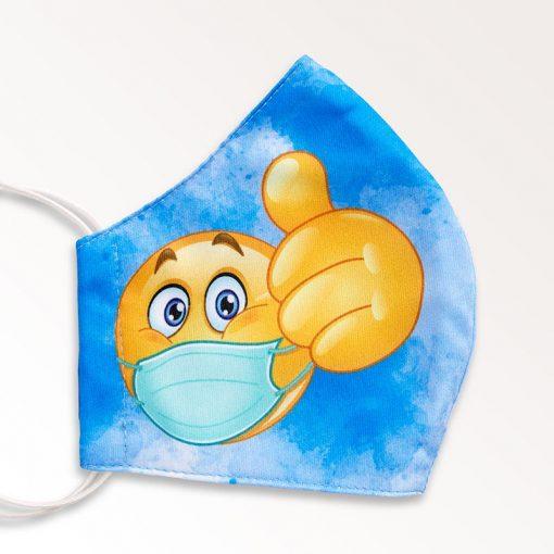 MNS01-019-Mund-Nasen-Schutz-Maske-Emoji-Blue-2