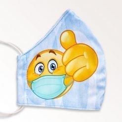 MNS01-020-Mund-Nasen-Schutz-Maske-Emoji-Lightblue-2