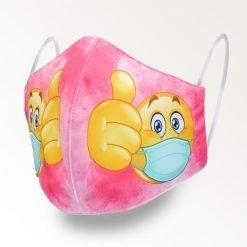 MNS01-022-Mund-Nasen-Schutz-Maske-Emoji-Magenta-1