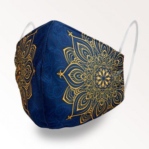 MNS01-029-Mund-Nasen-Schutz-Maske-Mandala-Golden-1