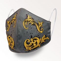 MNS01-031-Mund-Nasen-Schutz-Maske-Arabesque-Gold-1