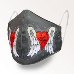 MNS01-044-Mund-Nasen-Schutz-Maske-Love-Hate-1