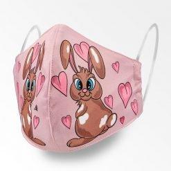 MNS01-064-Mund-Nasen-Schutz-Maske-Bunny-And-Hearts-Pink-1