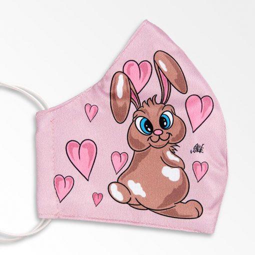 MNS01-064-Mund-Nasen-Schutz-Maske-Bunny-And-Hearts-Pink-2