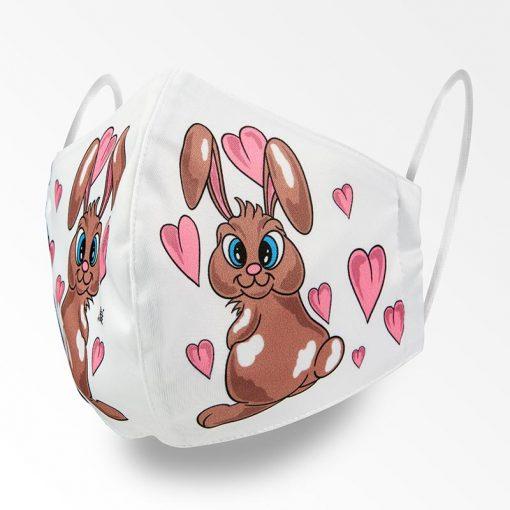 MNS01-065-Mund-Nasen-Schutz-Maske-Bunny-And-Hearts-1