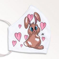 MNS01-065-Mund-Nasen-Schutz-Maske-Bunny-And-Hearts-2