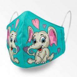 MNS01-066-Mund-Nasen-Schutz-Maske-Happy-Elefant-Coloured-1