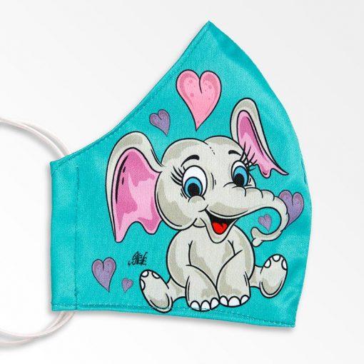 MNS01-066-Mund-Nasen-Schutz-Maske-Happy-Elefant-Coloured-2