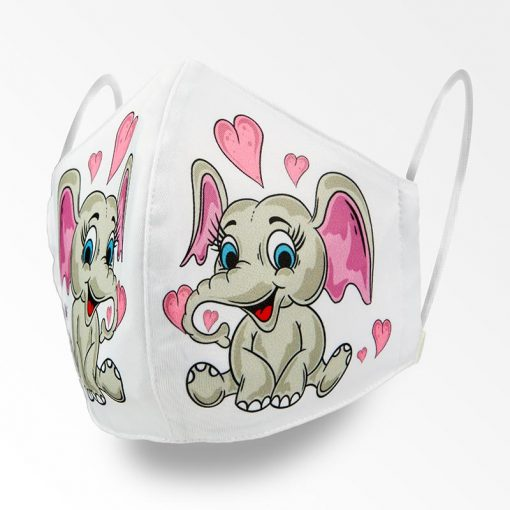 MNS01-067-Mund-Nasen-Schutz-Maske-Happy-Elefant-1