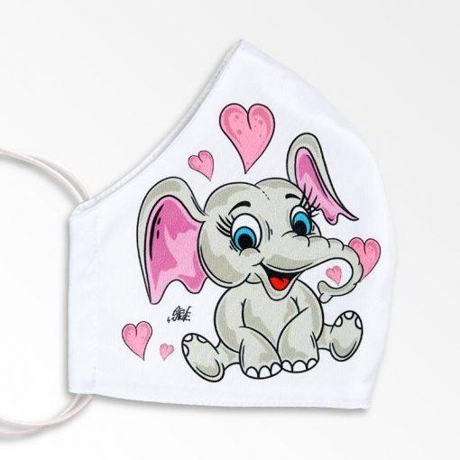 MNS01-067-Mund-Nasen-Schutz-Maske-Happy-Elefant-2