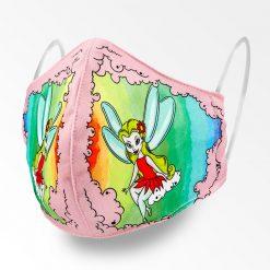 MNS01-070-Mund-Nasen-Schutz-Maske-Kleine-Fee-Pink-1