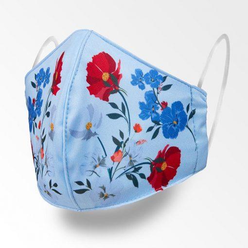 MNS01-081-Mund-Nasen-Schutz-Maske-Flowers-Babyblue-1