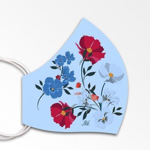 MNS01-081-Mund-Nasen-Schutz-Maske-Flowers-Babyblue-2