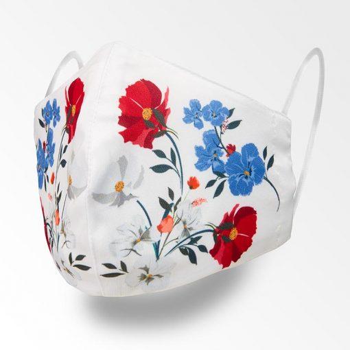 MNS01-082-Mund-Nasen-Schutz-Maske-Flowers-White-1