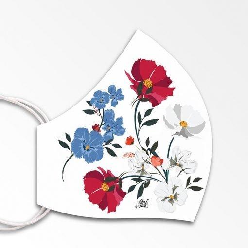 MNS01-082-Mund-Nasen-Schutz-Maske-Flowers-White-2
