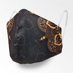 MNS01-094-Mund-Nasen-Schutz-Maske-Mandala-Golden-Grey-1