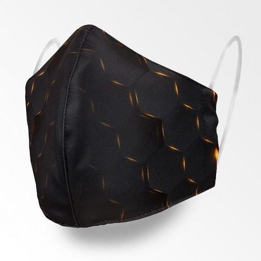 MNS01-104-Mund-Nasen-Schutz-Maske-Golden-Hexagon-1