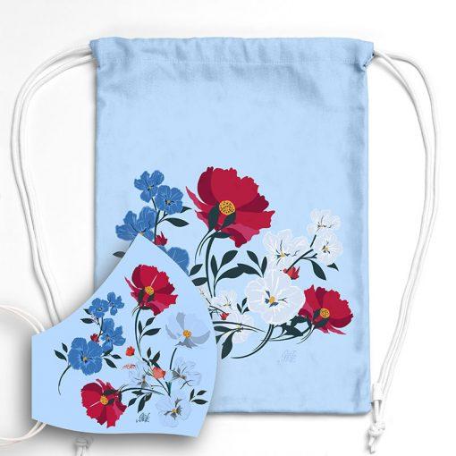 MNSBAG-002-Gym-Bag-Maske-Set-Blumen