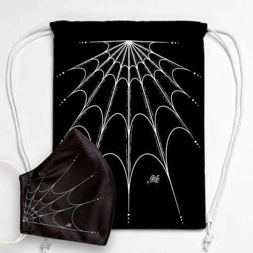 MNSBAG-009-Gym-Bag-Maske-Set-Spiderweb