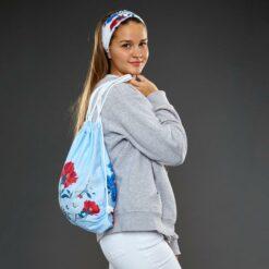 BAGTUB-001-Gym-Bag-Rucksack-Schlauchschal-Tube-Bandana-Blumen-2