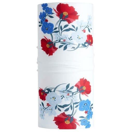 TUB01-004-Schlauchschal-Tube-Loop-Bandana-Flowers-White-Simple-2