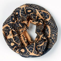 TUB01-011-Schlauchschal-Tube-Loop-Bandana-Mandala-Golden-Grey-3